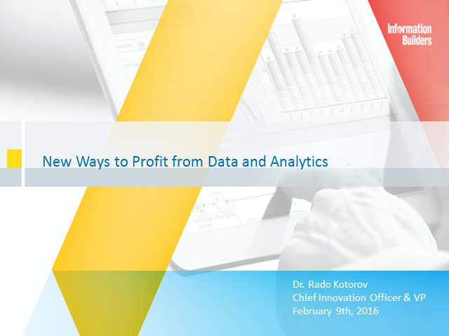 New ways to Profit From Data and Analytics