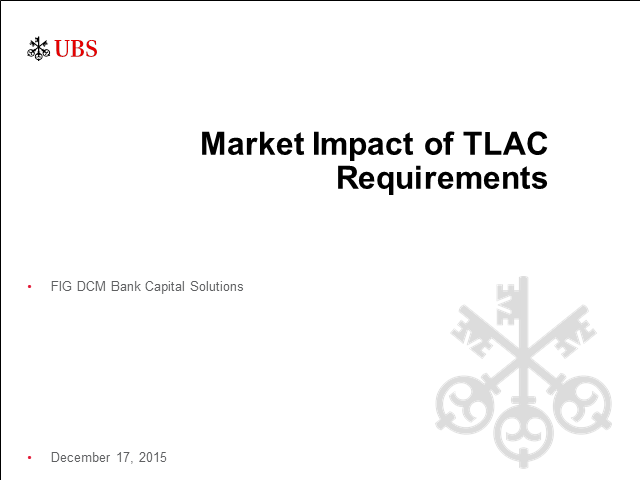 TLAC, the long-term debt requirement, and the clean holding company proposal