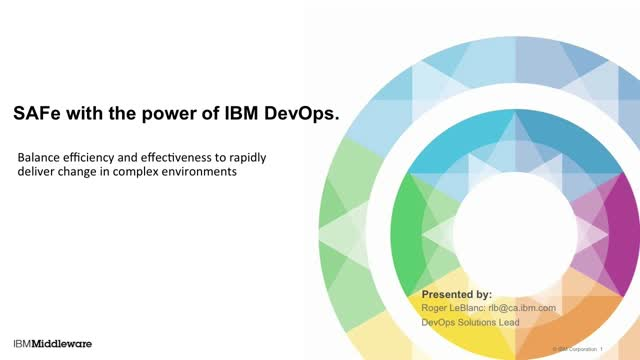 Are your apps SAFe? - A DevOps for Middleware Scenario