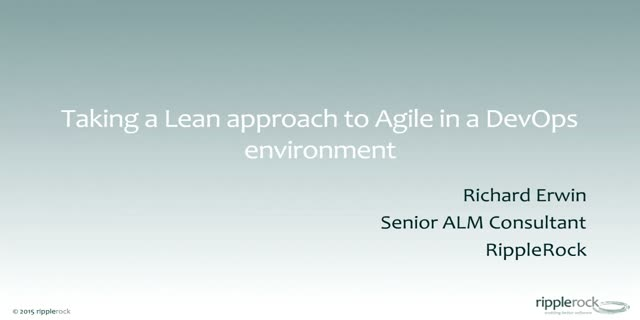 Lean approaches to Agile in a DevOps Environment