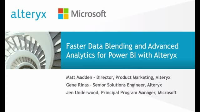 Faster Data Blending & Advanced Analytics for Power BI with Alteryx