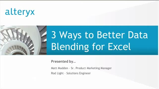 3 Ways to Better Data Blending for Microsoft Excel