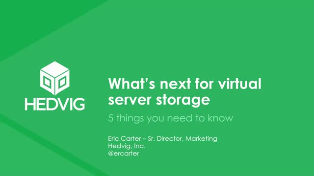 What's next for virtual server storage: 5 things you need to know