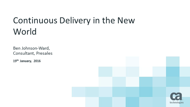 Continuous Delivery in the New World