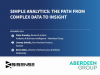 Simple Analytics: The Path from Complex Data to Insight