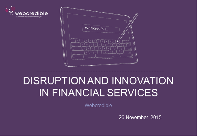 User Experience Innovation in the Financial Services Sector