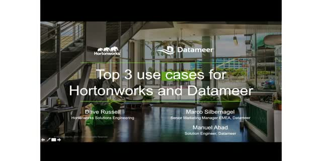 Top 3 use cases for Hortonworks Data Platform and Datameer Big Data Analytics