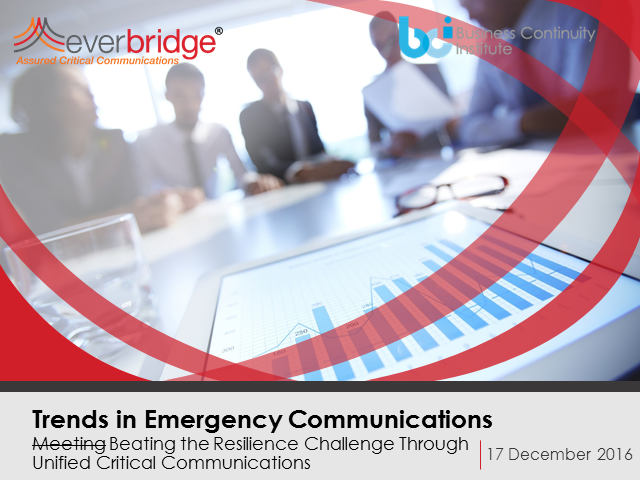 BCI Webinar: Communicating in a crisis