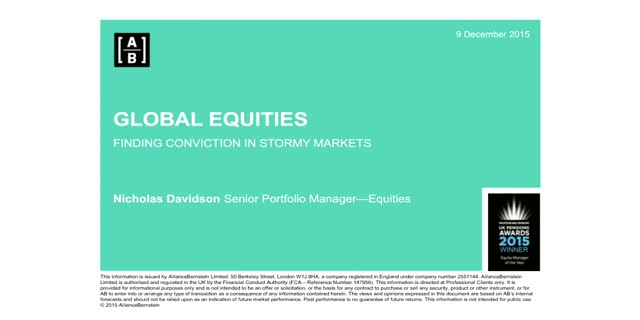 Global Equities: Finding Conviction in Stormy Markets