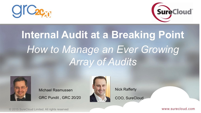 Internal Audit at a Breaking Point: How to Manage the Growing Array of Audits