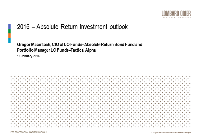 Absolute return: what to expect in 2016?