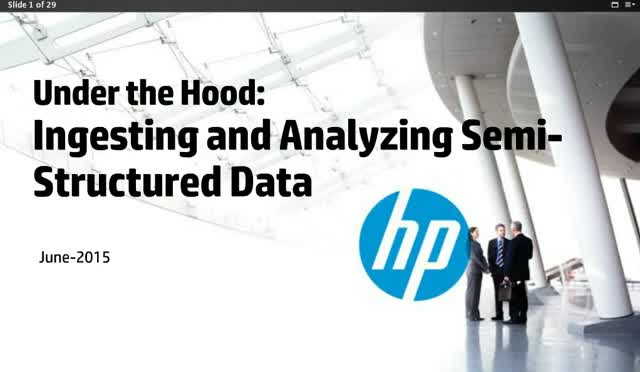 """Under the Hood"" - Ingesting and Analyzing Semi-Structured Data"