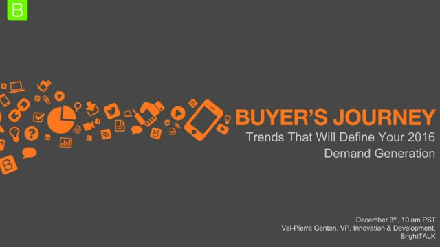 Buyer's journey trends that will define your 2016 demand generation