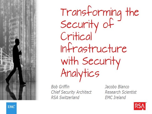 EMC Espresso - Transforming the Security of Critical Infrastructure