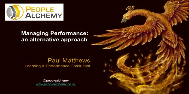 Managing Performance: An Alternative Approach