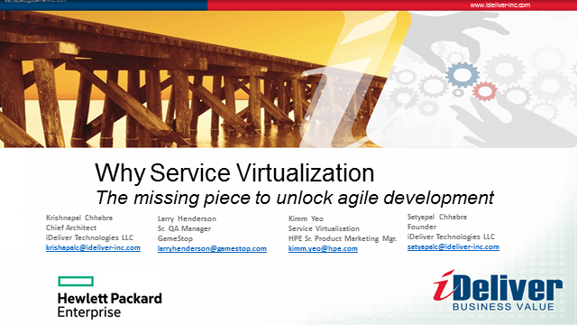 Service Virtualization: Missing Piece to Agile