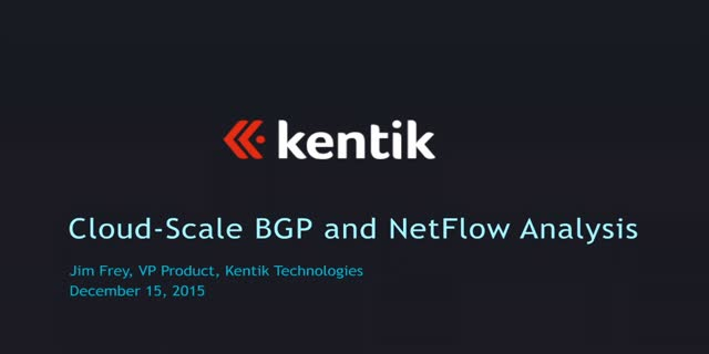 Cloud-Scale BGP and NetFlow Analysis