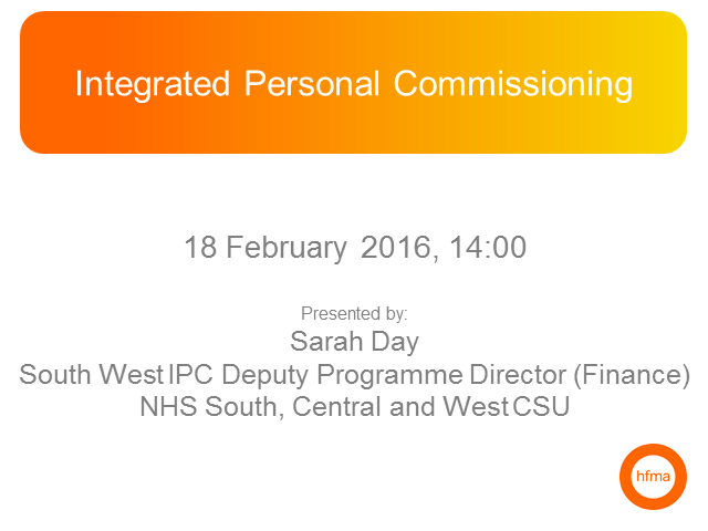 Integrated Personal Commissioning