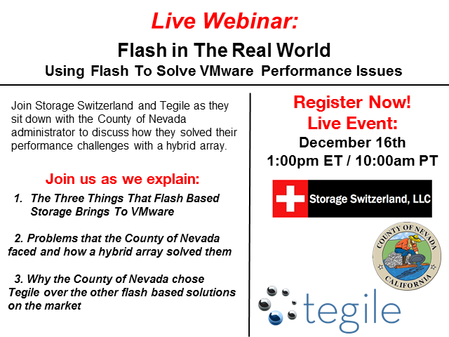 Flash in The Real World - Using Flash Storage To Solve VMware Performance Issues