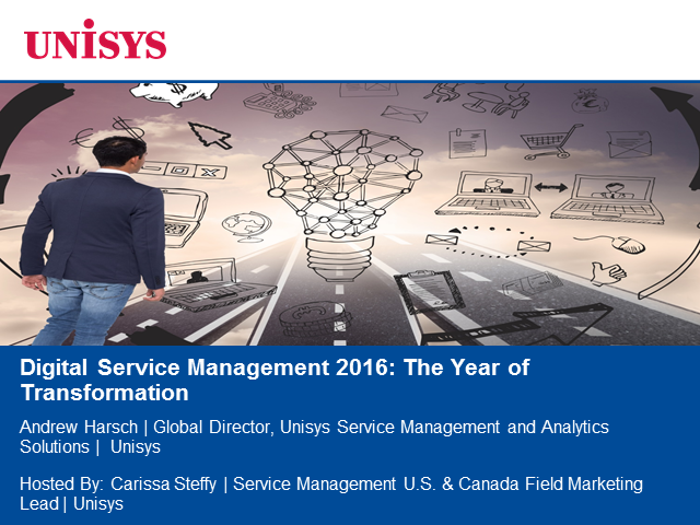 Digital Service Management 2016: The Year of Transformation