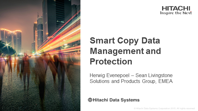 Data Protection – Smart Copy Data Management and Protection