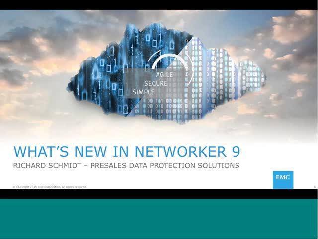 Data Protection Redefine - Networker 9.0