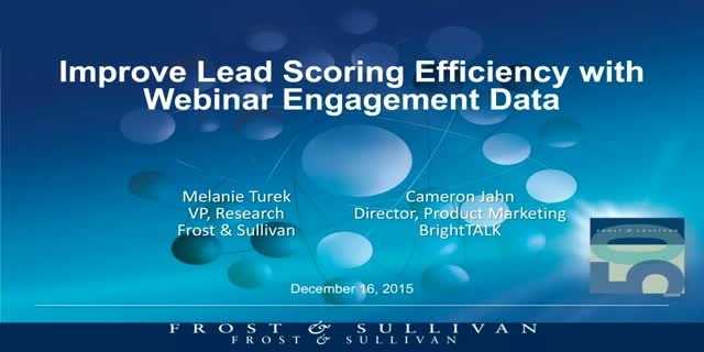 Improve Lead Scoring Efficiency with Webinar Engagement Data