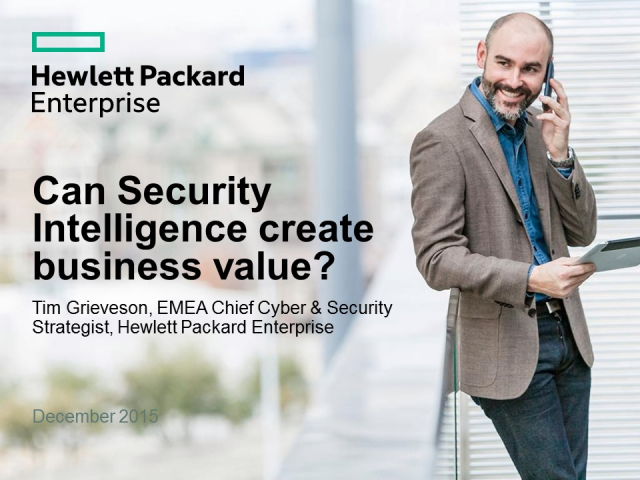 Can Security Intelligence create business value?