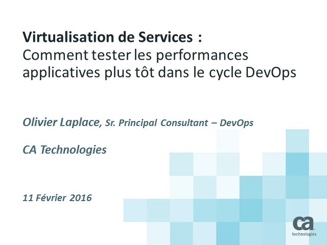 Virtualisation de services : tester les performances applicatives plus tôt