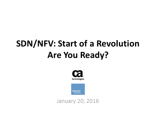 SDN/NFV: Start of a Revolution – Are You Ready?
