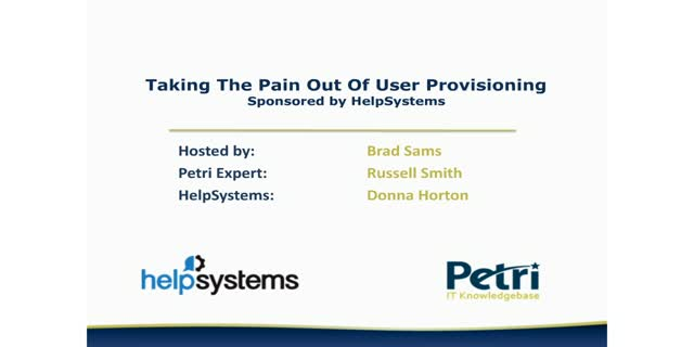 Taking The Pain Out Of User Provisioning