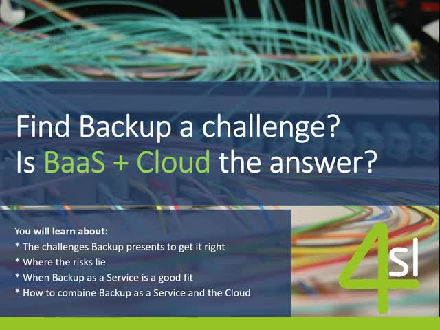 Find Backup A Challenge? Is BaaS and Cloud the Answer?