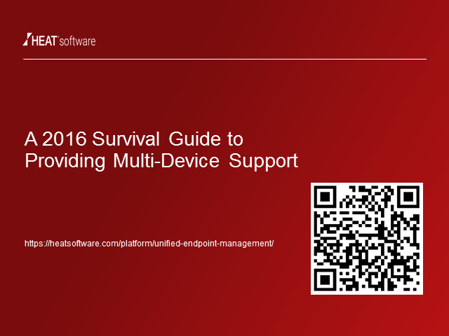 A 2016 Survival Guide to Providing Multi-Device Support