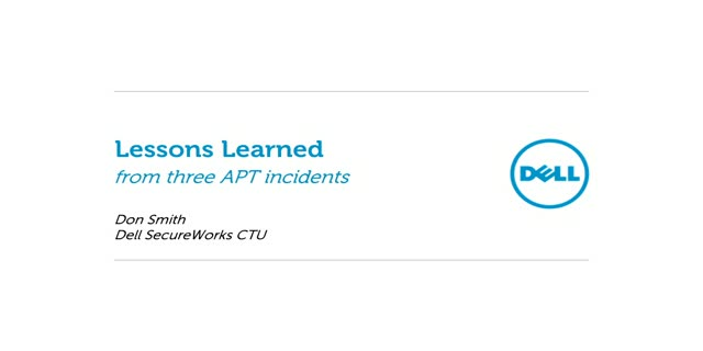 Advanced Incident Investigation: Lessons Learned From APT Victims