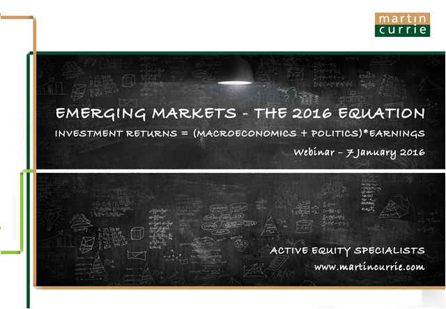 Emerging Markets – solving the 2016 equation
