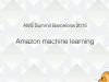 AWS Amazon machine learning