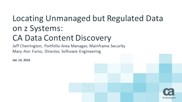 The Known Unknown – Finding Regulated & Sensitive Data on the Mainframe