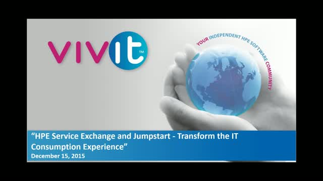 HPE Service Exchange and Jumpstart - Transform the IT Consumption Experience