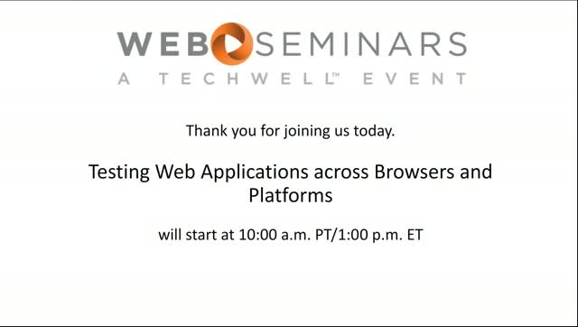 SNC - Testing Web Applications across Browsers and Platforms
