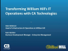 Transforming William Hill's IT Operations with CA Technologies