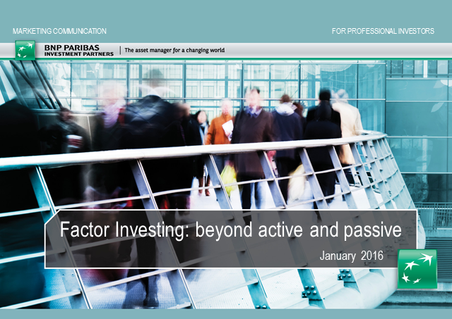 Factor Investing: Going beyond active and passive management