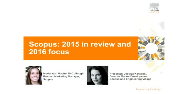 Scopus: 2015 review and 2016 focus