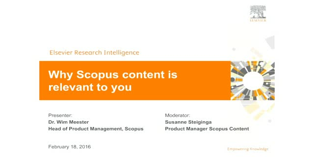 Why Scopus content is relevant to you
