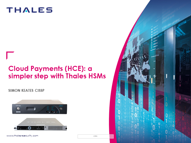 Cloud Payments (HCE): A Simpler Step with Thales HSMs
