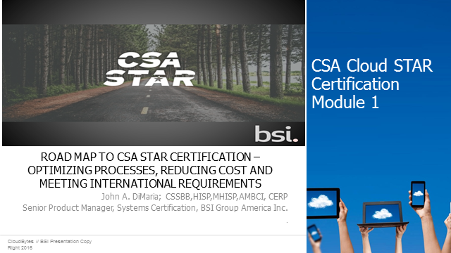 Road Map to CSA Star Certification: Module 1