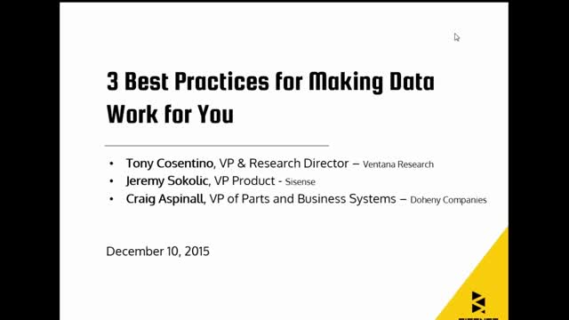 3 Best Practices for Making Data Work for You