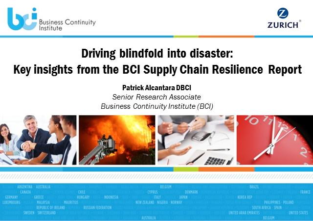 BCI Webinar: Driving blindfold into disaster