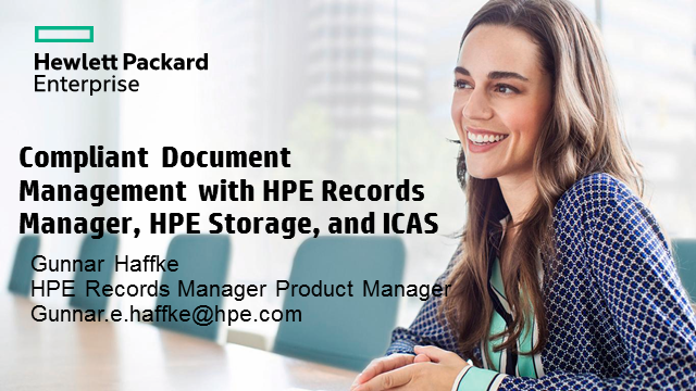 Compliant Document Management with HPE Storage