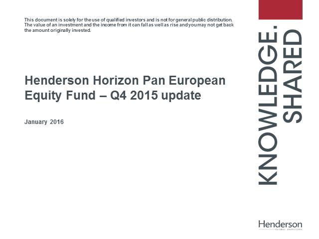 Henderson Horizon Pan European Equity Fund Update