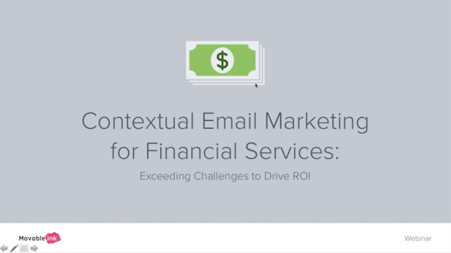 Contextual Email Marketing for Financial Services: Exceeding Challenges to Drive